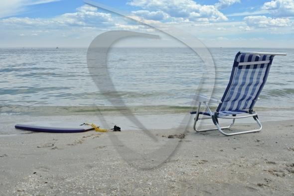 Beach chair and board