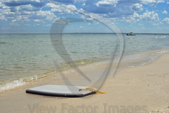 Boogie board on beach