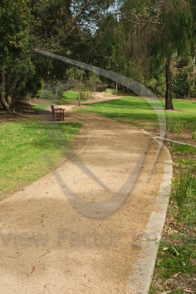 Footpath in empty park