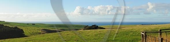 Panorama of farmland at Flinders