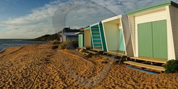 Beach houses panorama