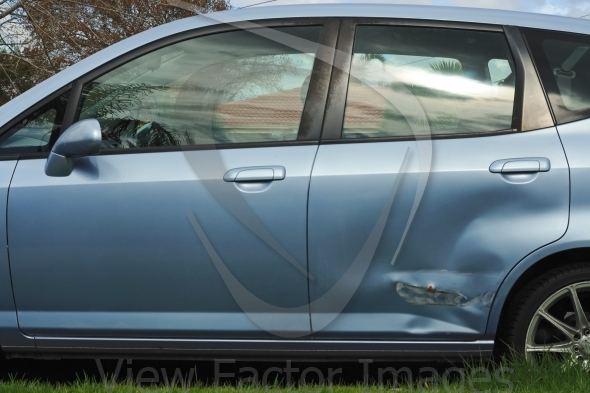 Car door damage