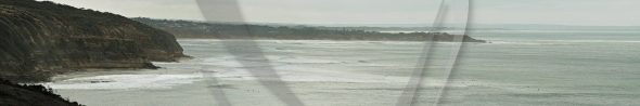 Surf coast panorama