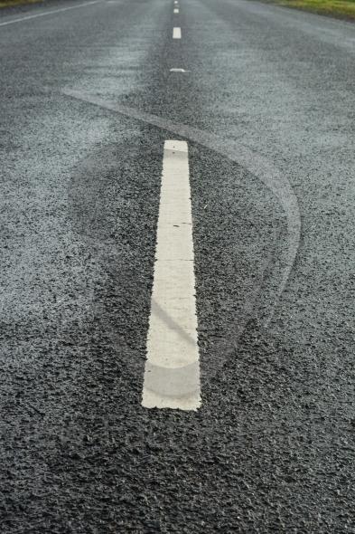 White lane markings