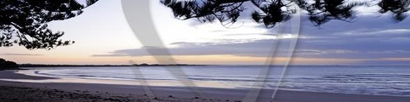 Sunrise at Torquay panorama