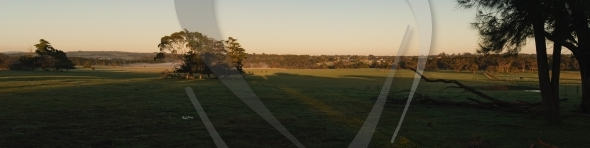 Sun rays panorama