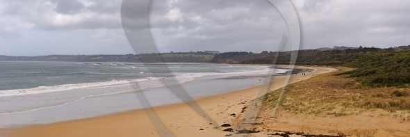 Sandy beach panorama