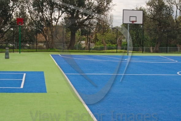 Basketball playground surface