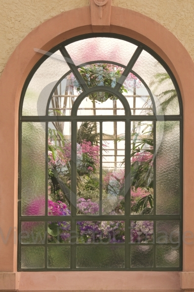 Window in conservatory house