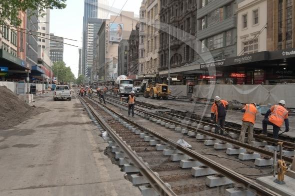 Tram track renewal
