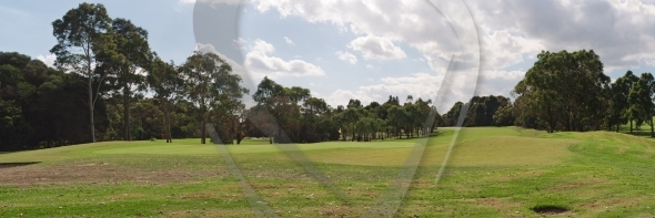 Panorama of the golf course