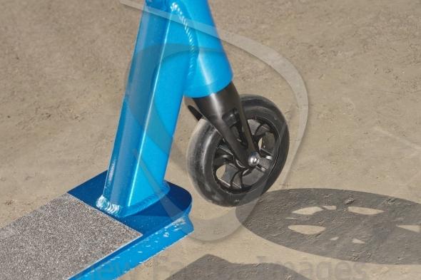 Push scooter closeup