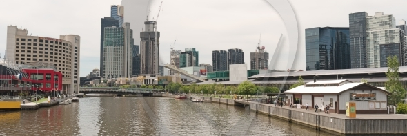 Southbank panorama on Yarra