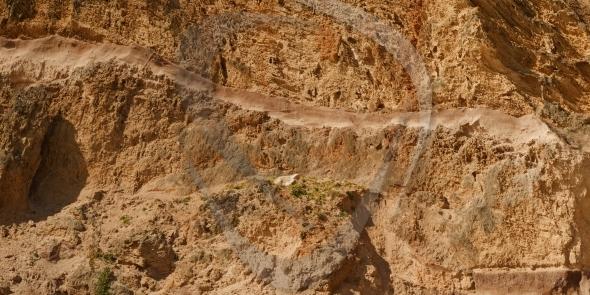 Erosion on sandstone cliff