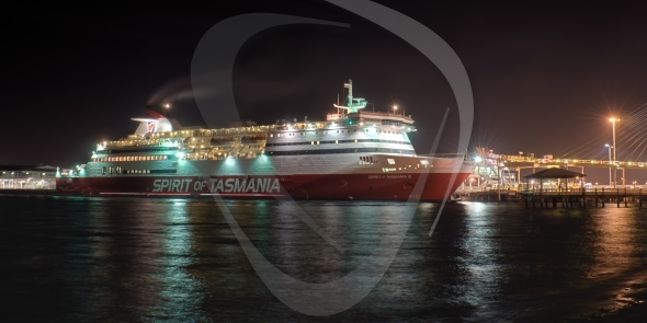 Spirit of Tasmania at night
