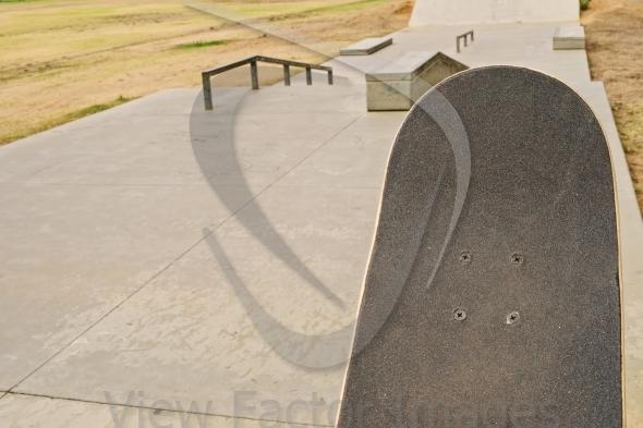 Skateboard surface at ramp