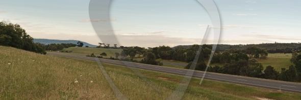 Freeway panorama in morning