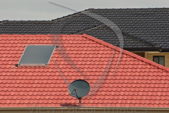 Antenna and heater on roof