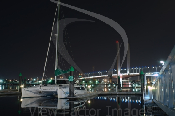 Bolte Bridge and catamaran