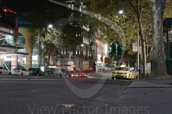 Bourke street at night