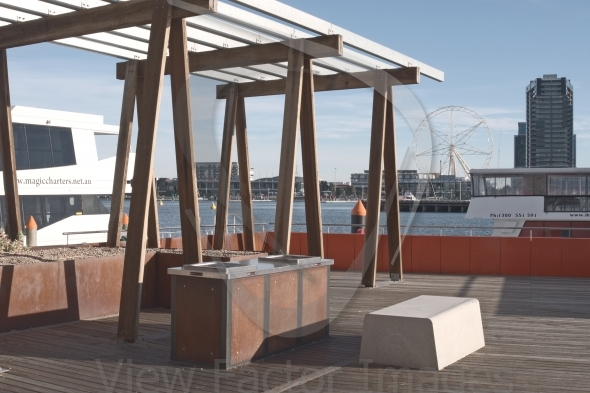 BBQ area in Docklands
