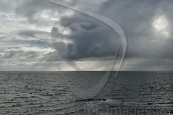 Dark cloud in bay