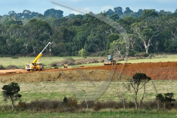 Earthworks for freeway in Australia