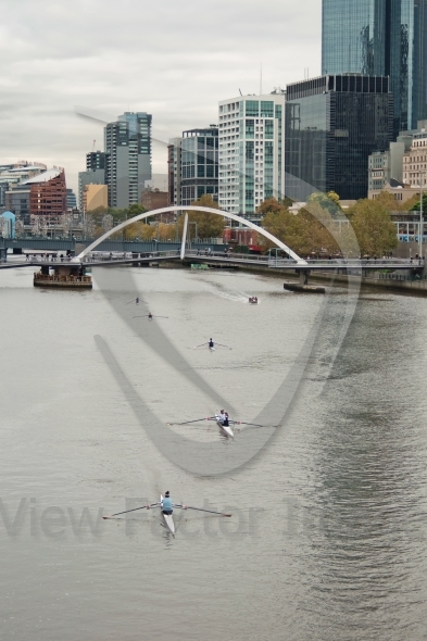 Yarra and Melbourne city