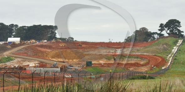 Scenery earthworks for freeway in Australia