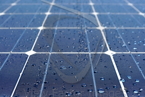 Solar panel with water